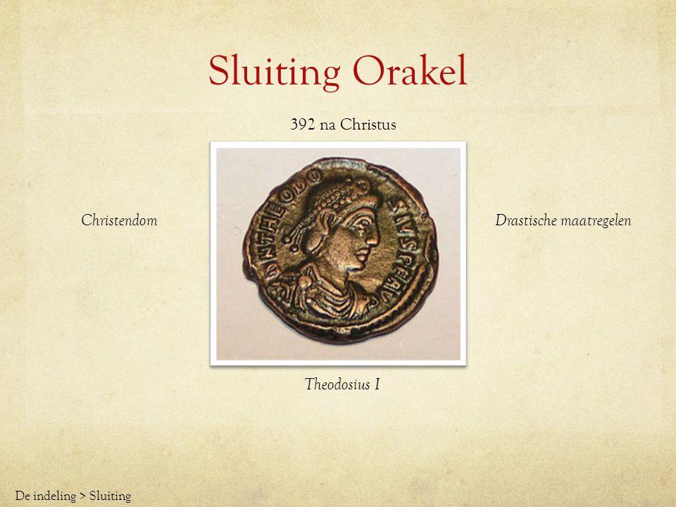 Sluiting Orakel 392 na Christus Christendom Drastische maatregelen