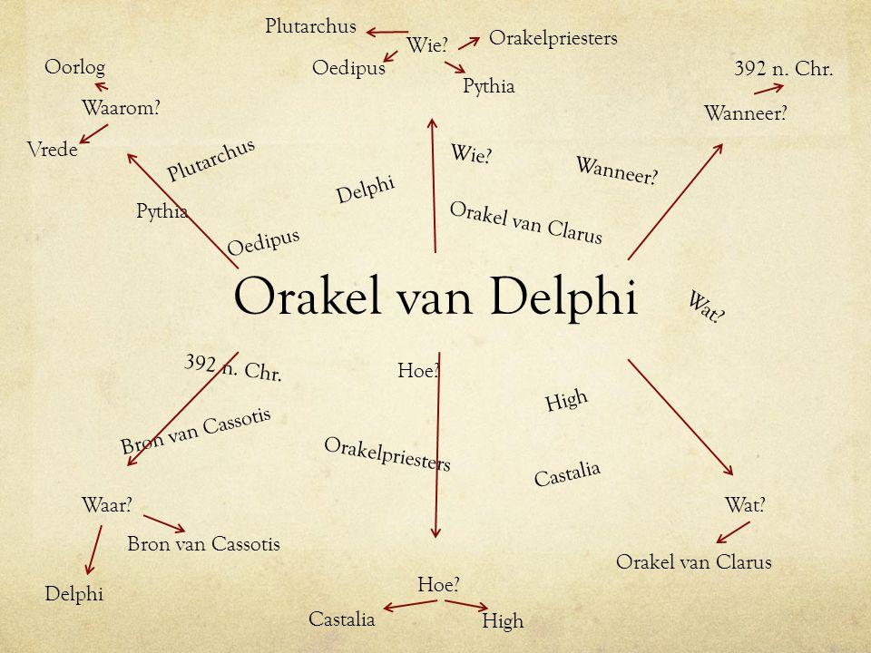 Orakel van Delphi Plutarchus Orakelpriesters Wie Oorlog Oedipus
