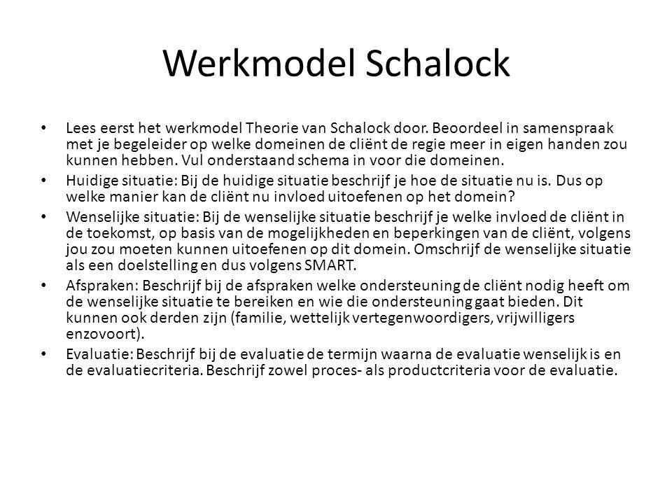 Werkmodel Schalock