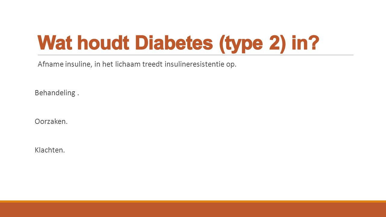 Wat houdt Diabetes (type 2) in