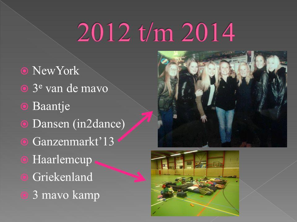 2012 t/m 2014 NewYork 3e van de mavo Baantje Dansen (in2dance)