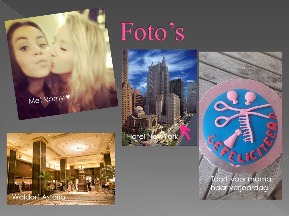 Foto's Met Romy ♥ Hotel NewYork Taart voor mama haar verjaardag