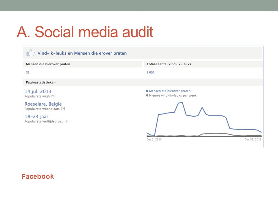A. Social media audit Facebook