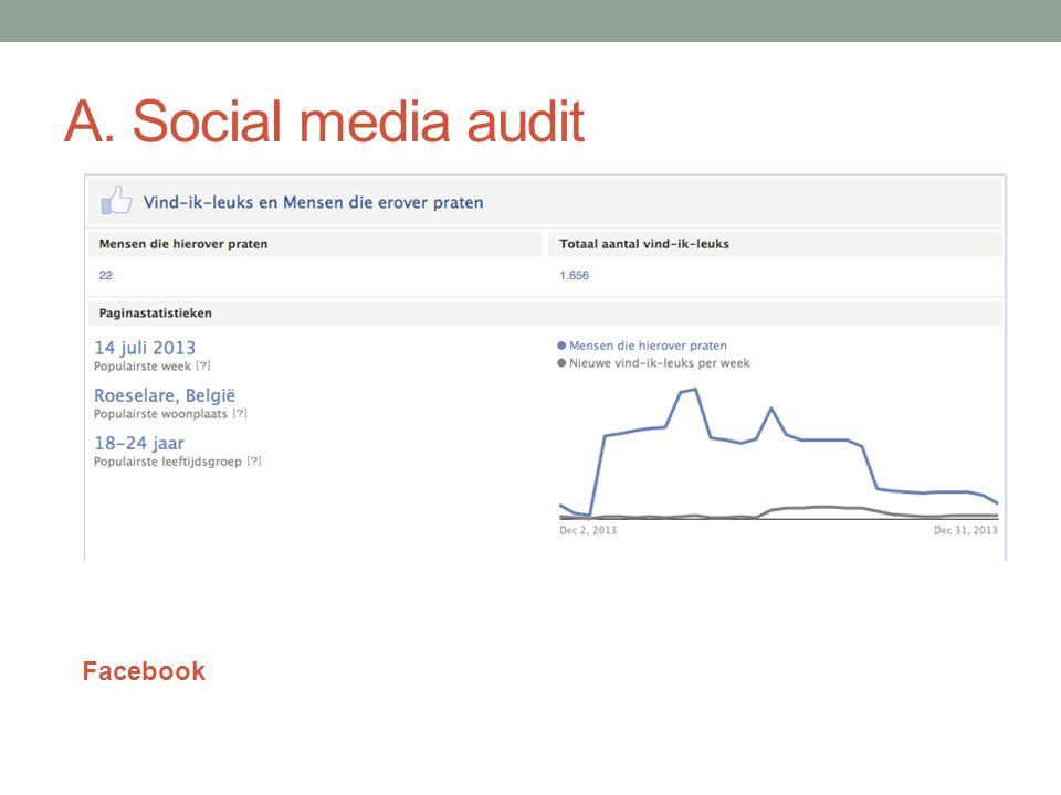 A. Social media audit Facebook