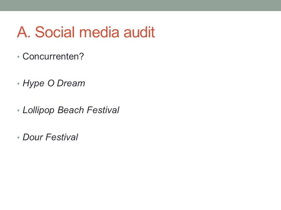 A. Social media audit Concurrenten Hype O Dream