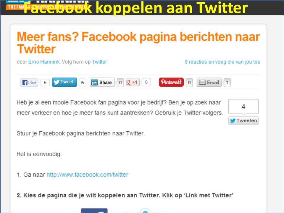 Facebook koppelen aan Twitter