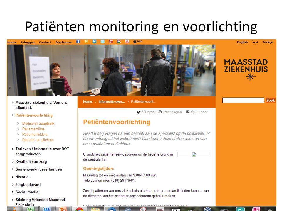 Patiënten monitoring en voorlichting