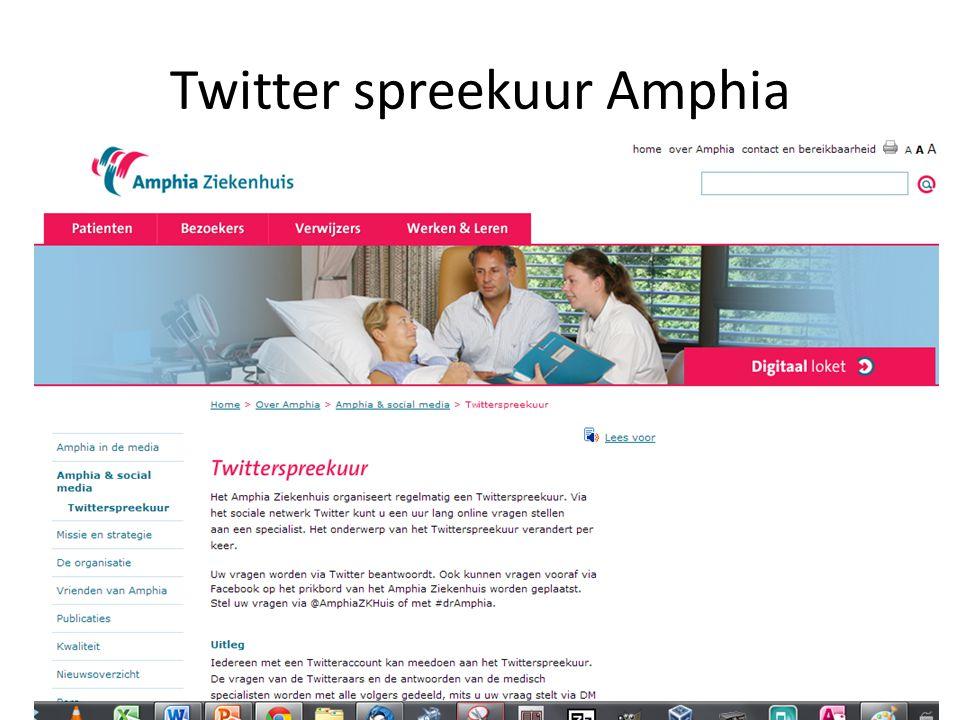 Twitter spreekuur Amphia