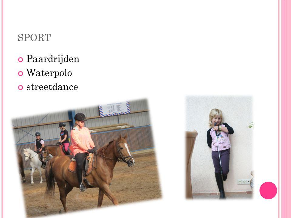 sport Paardrijden Waterpolo streetdance