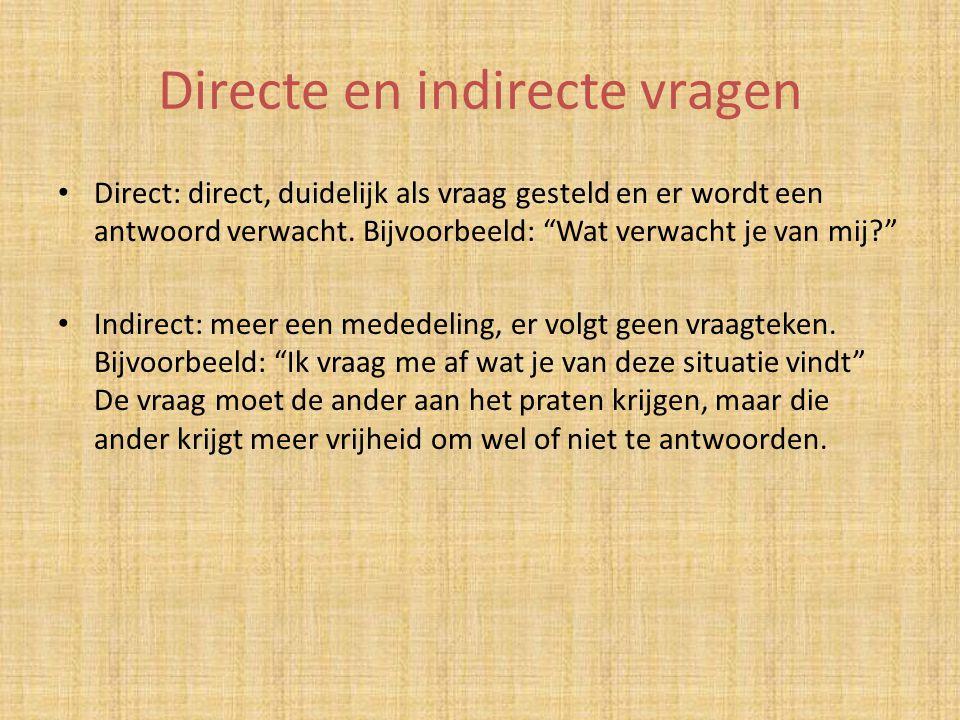 Directe en indirecte vragen
