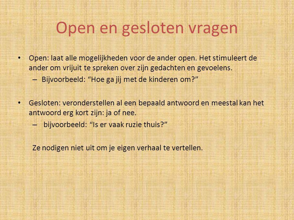 Open en gesloten vragen