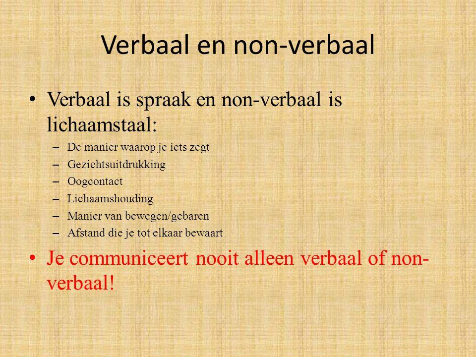 Verbaal en non-verbaal