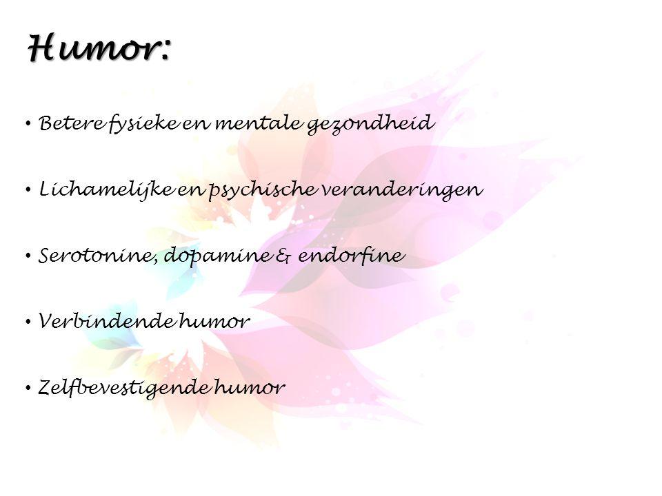Humor: Betere fysieke en mentale gezondheid