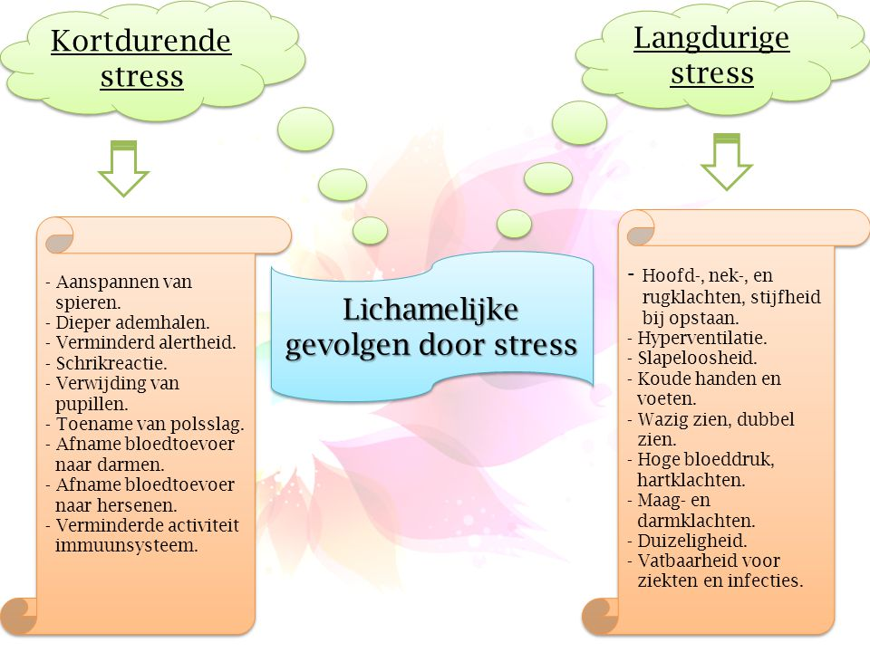 Lichamelijke gevolgen door stress