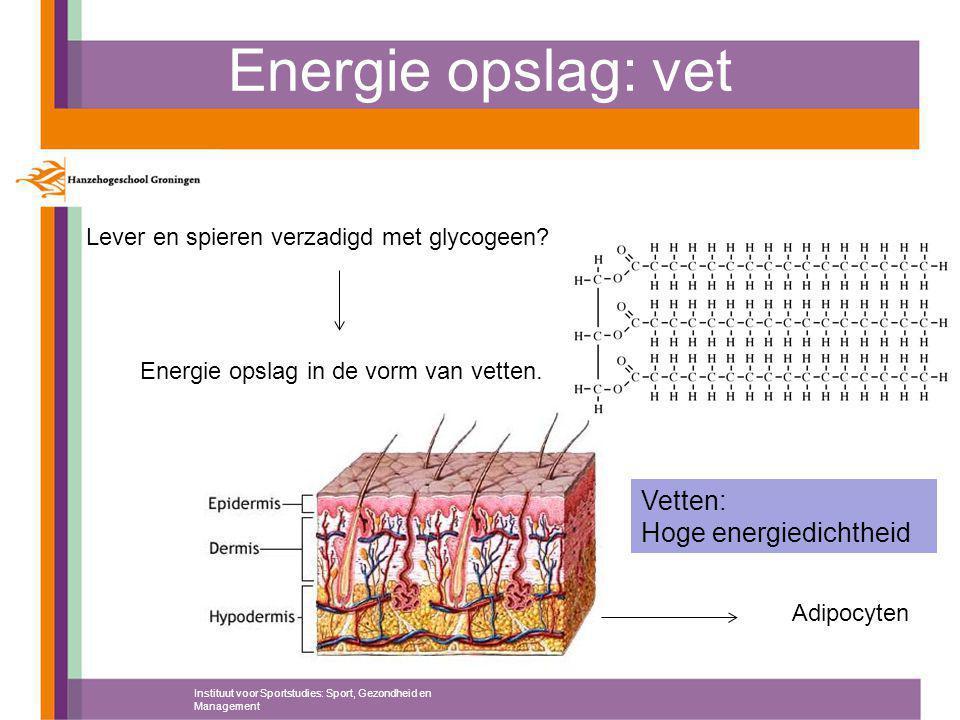 Energie opslag in de vorm van vetten.