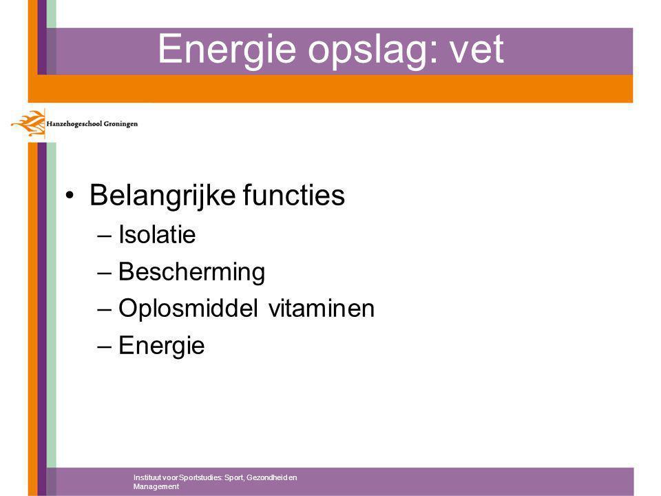 Energie opslag: vet Belangrijke functies Isolatie Bescherming