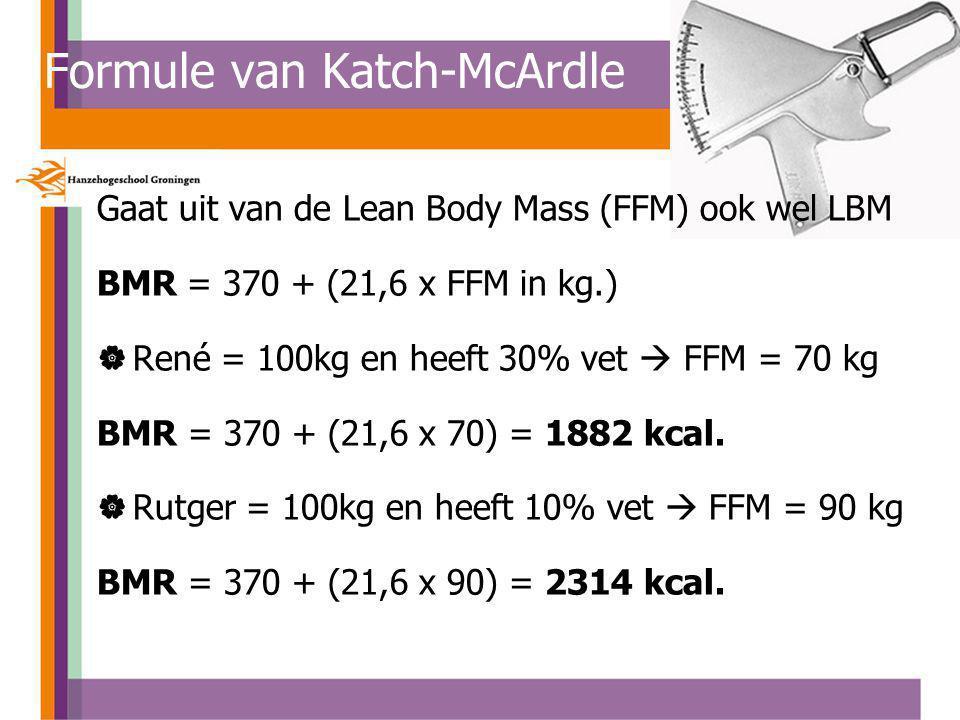 Formule van Katch-McArdle