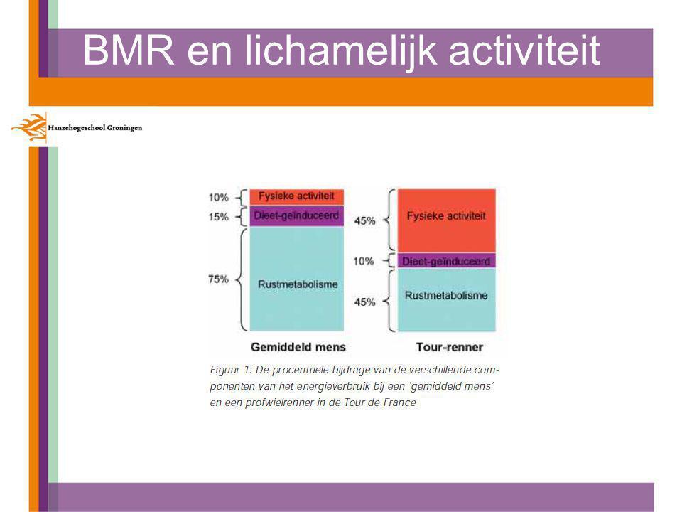 BMR en lichamelijk activiteit