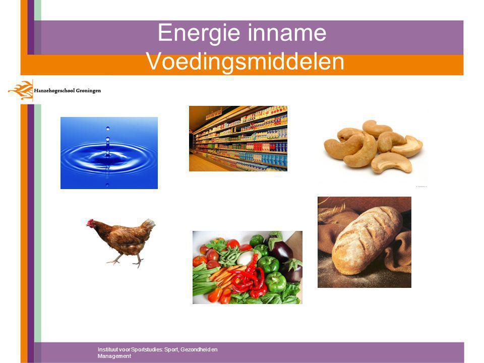 Energie inname Voedingsmiddelen