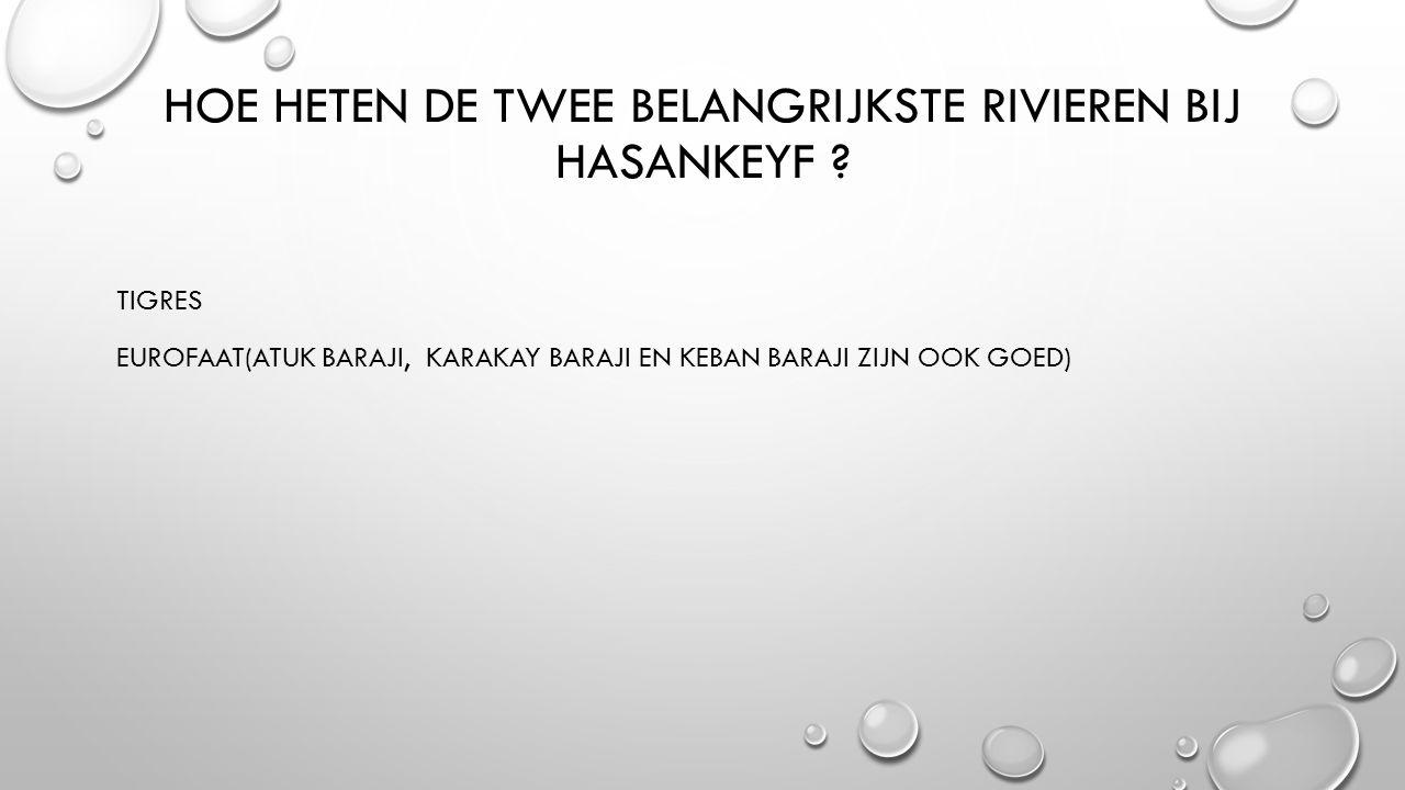 Hoe heten de twee belangrijkste rivieren bij hasankeyf