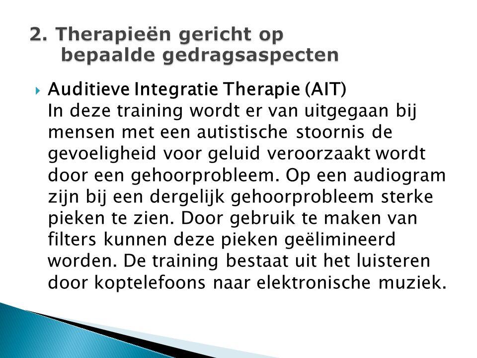 2. Therapieën gericht op bepaalde gedragsaspecten