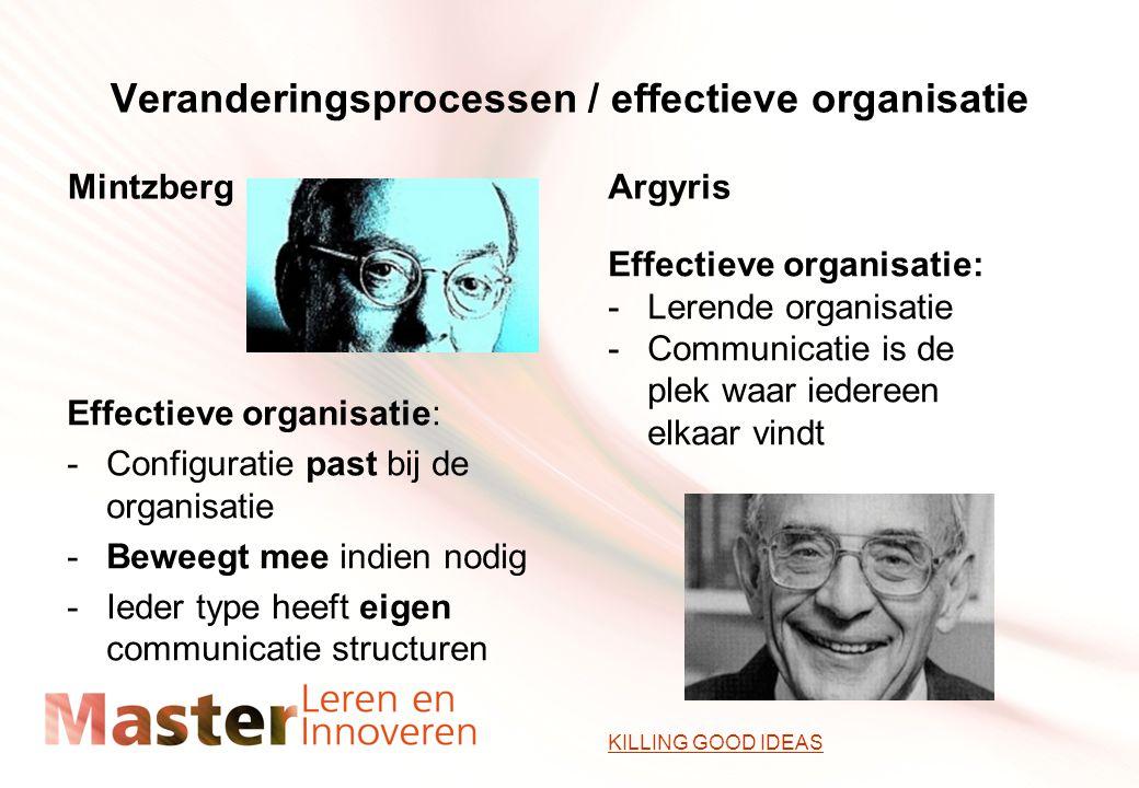 Veranderingsprocessen / effectieve organisatie