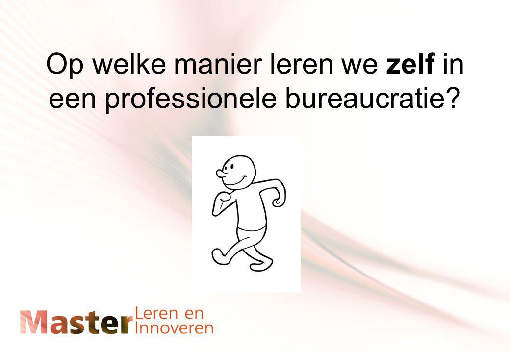 Op welke manier leren we zelf in een professionele bureaucratie