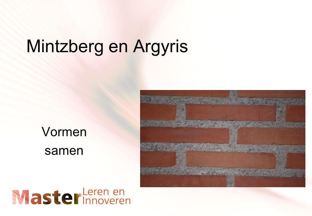 Mintzberg en Argyris Vormen samen