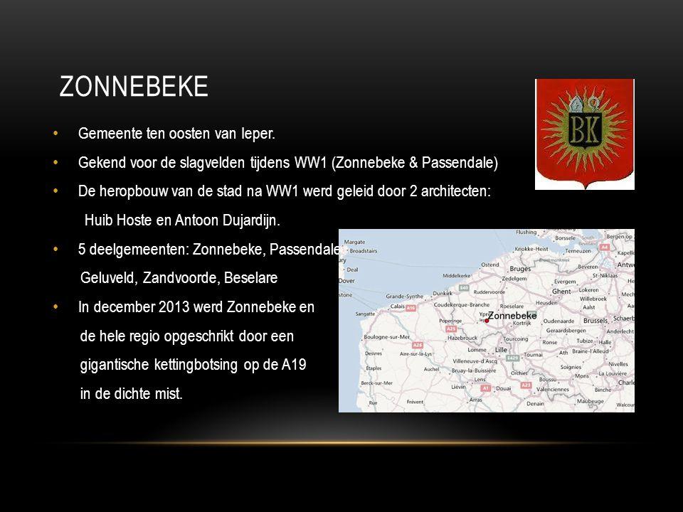 Zonnebeke Gemeente ten oosten van Ieper.
