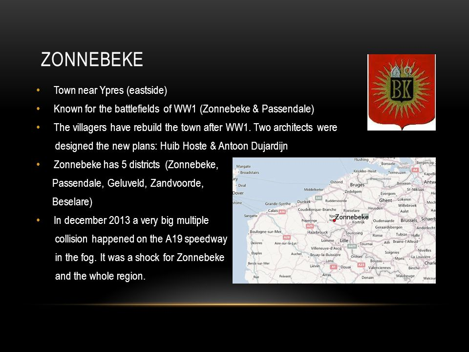Zonnebeke Town near Ypres (eastside)