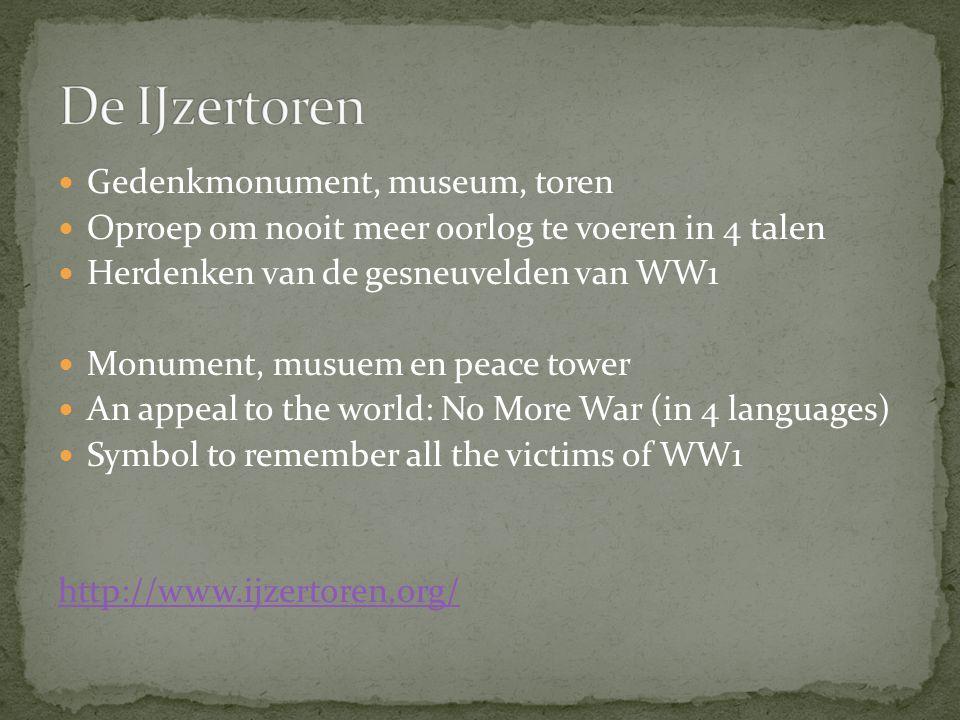 De IJzertoren Gedenkmonument, museum, toren