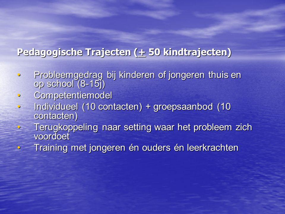 Pedagogische Trajecten (+ 50 kindtrajecten)