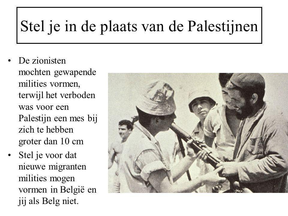 Stel je in de plaats van de Palestijnen