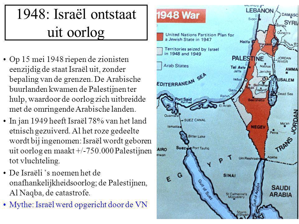 1948: Israël ontstaat uit oorlog