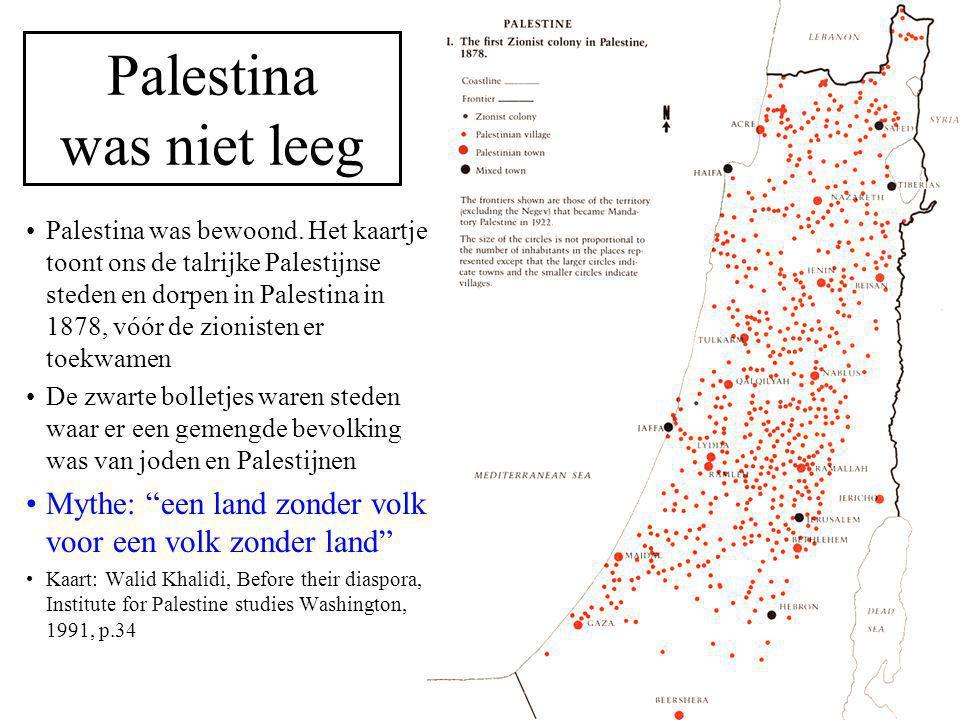 Palestina was niet leeg