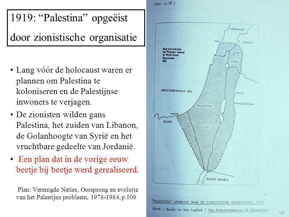 1919: Palestina opgeëist door zionistische organisatie