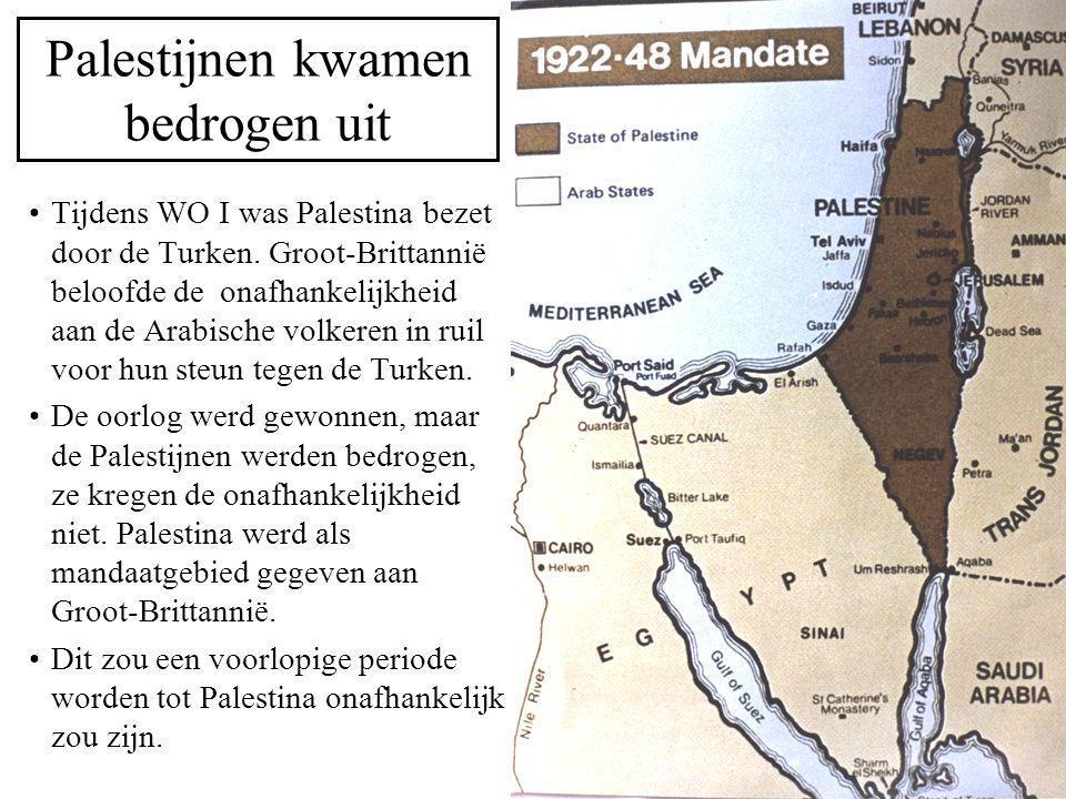 Palestijnen kwamen bedrogen uit