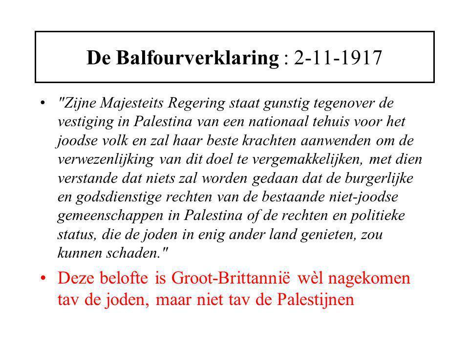 De Balfourverklaring : 2-11-1917