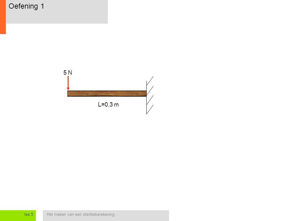 Oefening 1 5 N L=0,3 m les 5