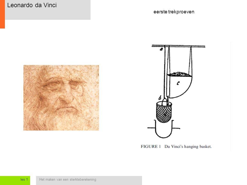 Leonardo da Vinci eerste trekproeven les 1
