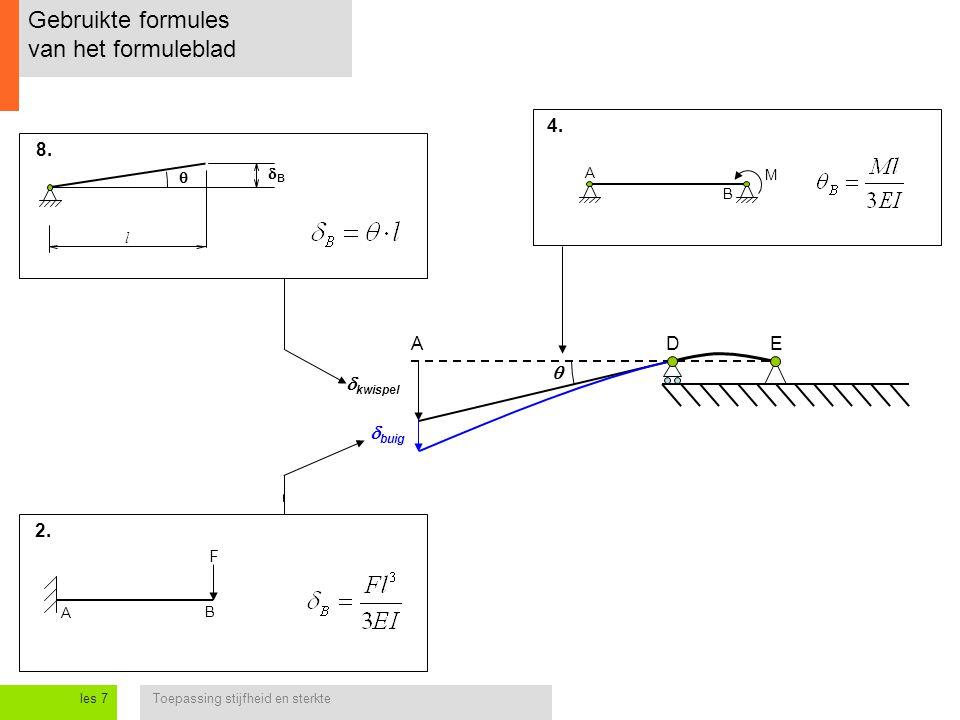 Gebruikte formules van het formuleblad