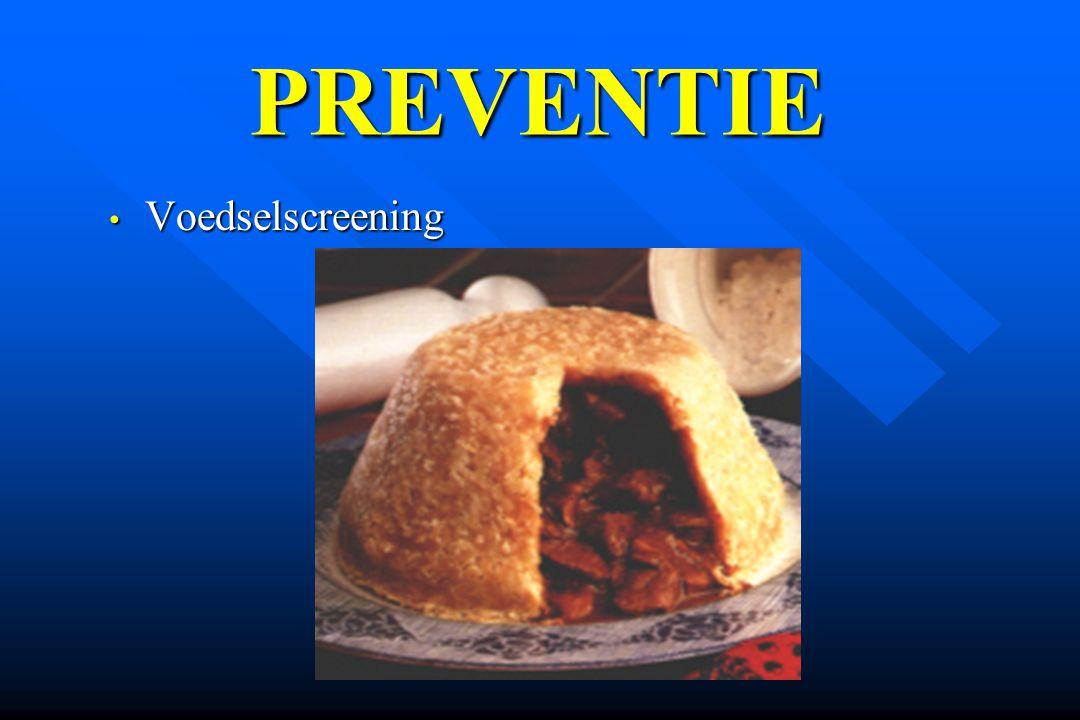 PREVENTIE Voedselscreening
