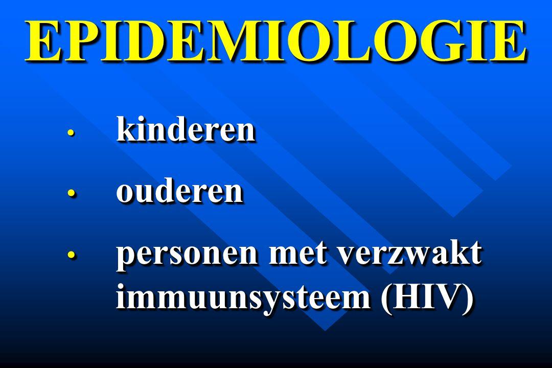 EPIDEMIOLOGIE ouderen personen met verzwakt immuunsysteem (HIV)