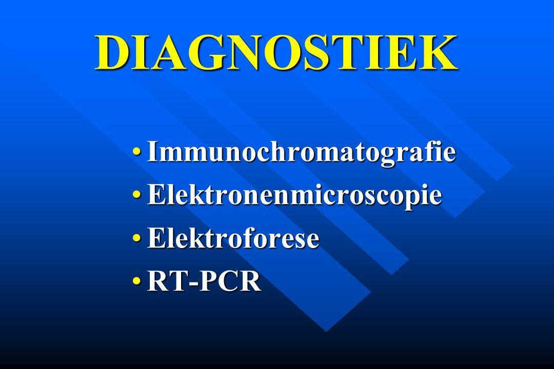 DIAGNOSTIEK Immunochromatografie Elektronenmicroscopie Elektroforese