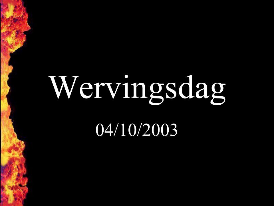 Wervingsdag 04/10/2003