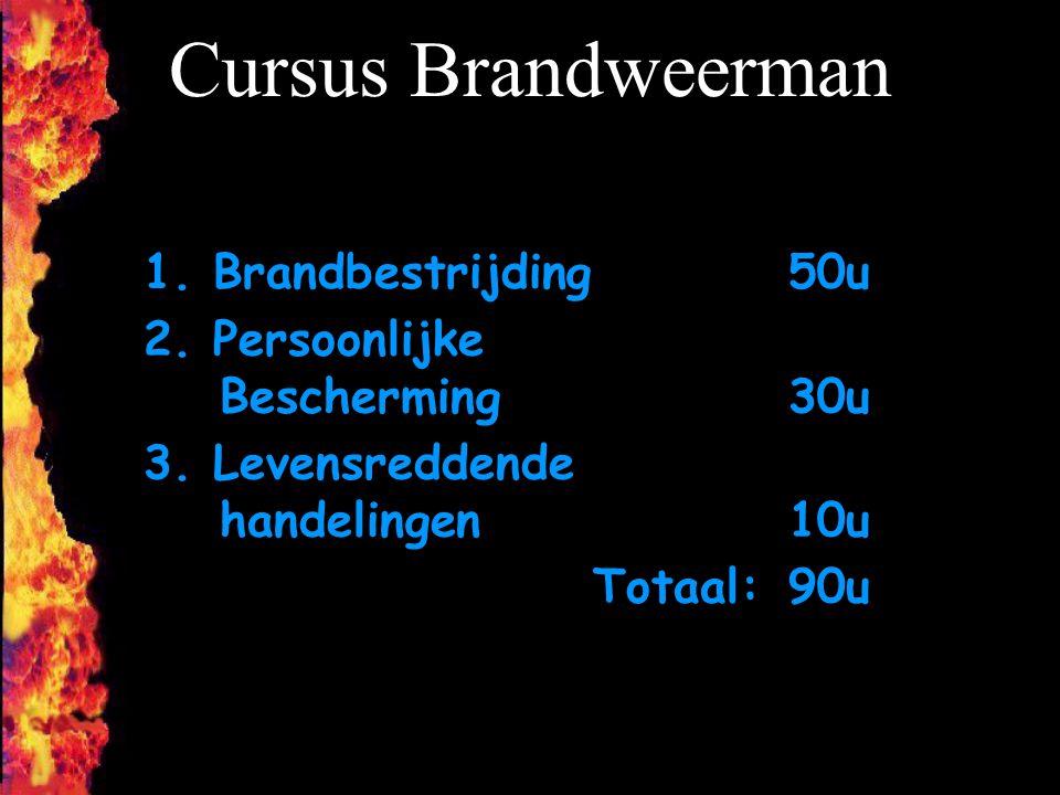 Cursus Brandweerman 1. Brandbestrijding 50u
