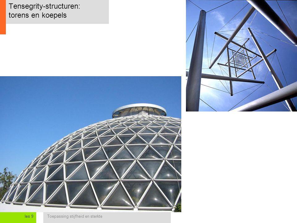 Tensegrity-structuren: torens en koepels
