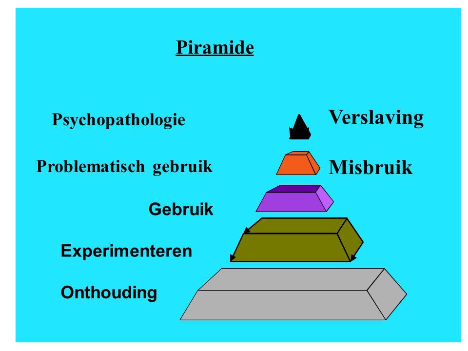 Verslaving Misbruik Piramide Psychopathologie Problematisch gebruik