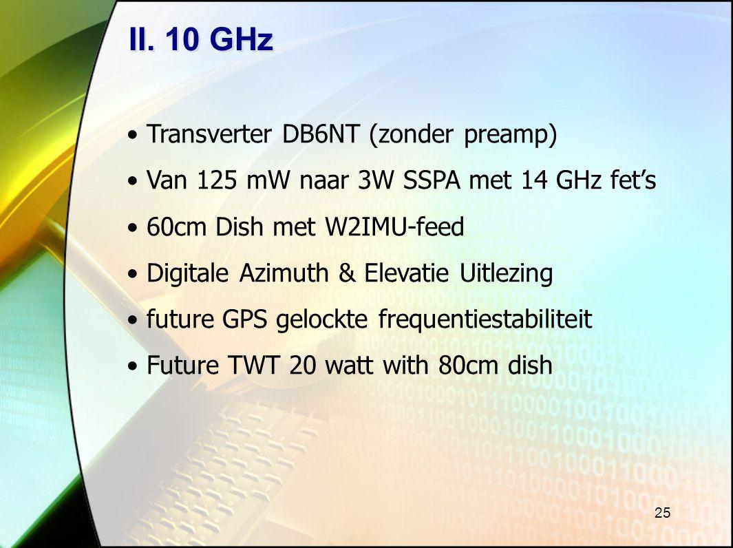 II. 10 GHz Transverter DB6NT (zonder preamp)