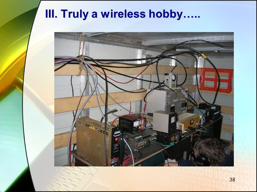 III. Truly a wireless hobby…..